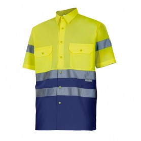 Camisa Velilla bicolor manga corta alta visibilidad