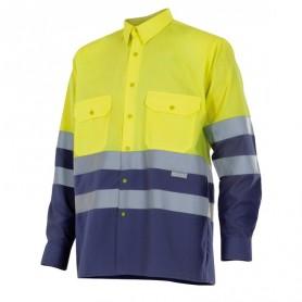 Camisa Velilla bicolor manga larga alta visibilidad