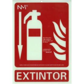 Extintor Flecha Abajo