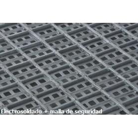 Rejilla Tramex Galv. con malla seguridad plancha 2.000x1.000 mm (malla 30x30x30x3)